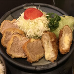 Tonkatsuniimura - 丸いヒレカツとチーズメンチカツ!