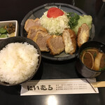 Tonkatsuniimura - マルヨン定食+チーズメンチカツ