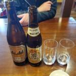 そば処 一休庵 - 瓶ビールとノンアルコール