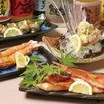 食彩や魚太郎 - 車エビの塩焼き等