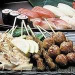 食彩や魚太郎 - 串焼き盛り合わせ
