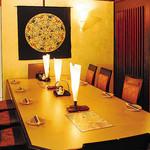 食彩や魚太郎 - シックな雰囲気の店内