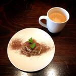 ワインバー 壱 - ティラミスとカフェオレ