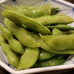 花しずく - お通し(枝豆)(330円)×2