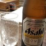 花しずく - 瓶ビール アサヒスーパードライ 中(605円)