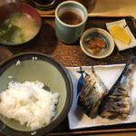魚玉 - にしん塩焼き定食@750円
