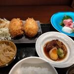 Shunsaiaoyama - カニクリームコロッケと副菜
