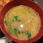 わぶ - 味噌汁(今日は豚汁でした)