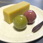 舟和 - 芋ようかん、あんこ玉(抹茶、苺)