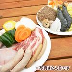 都会の農園バーベキュー広場 - お肉も魚介も両方欲しい!
