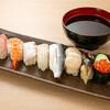 gyokaiyakitosushisakabaakadashiya - 料理写真:大名(中トロ、海老、タコ、煮アナゴ、、コハダ、真鯛、ホタテ、イクラ軍艦)
