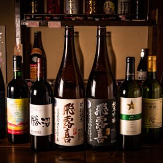 厳選日本酒を豊富にご用意◎国産素材の日本ワインもおすすめ♪