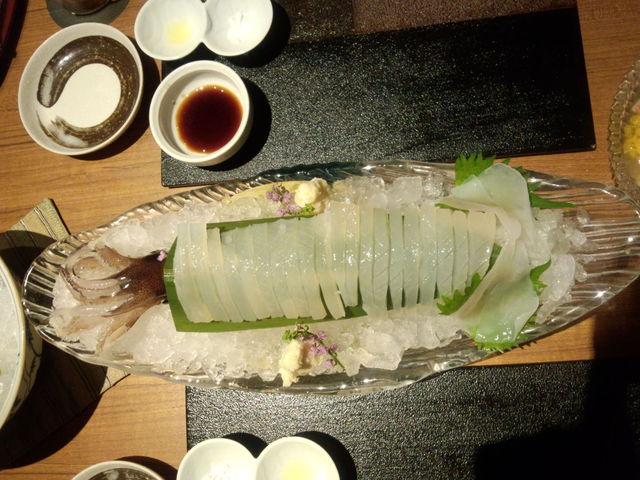 澤いち - 槍イカのお造り!三種類の味付けで御賞味あれぇ~