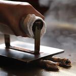 串道楽 楽車 - 鉄板で焼く串くわ焼き