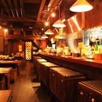 野乃鳥梅味堂 - 臨場感たっぷりのオープンキッチン、、、