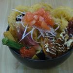 竹家食堂 - 2012年ロンドンオリンピックの限定丼 「聖火丼リターンズ」880円