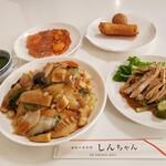 家庭中華料理 しんちゃん - これにデザート付き 1200円(税別)