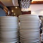 アズーリ - 皿とグラス アブねー