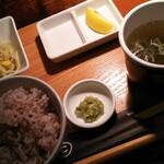 yakinikubarumaruushimi-to - ウシカツランチセットのご飯