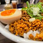 自家製麺 鶏冠 - 鷄そぼろ飯