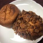 パン・リゾッタ - 半熟玉子のカレーパン&豚の角煮カレーパン