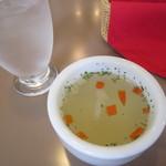 華かんざし - ランチのスープ