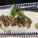 和食地酒 勘助 - サンマの刺身です