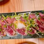 Ginsharigenshiyakishokudourobin - 牛肉のたたき
