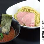 濃厚煮干しそば 麺匠 濱星 - 辛味濃厚煮干しつけ麺、ジャンとも抜群の相性の美味しさです。