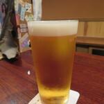 にしぶち飯店 - 夫はまずビール