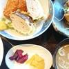 勝浦港 市場食堂 勝喰 - 料理写真:サワラステーキとサンガ天、白身フライ定食