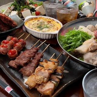 串兵衛コース4,000円♦串焼き、創作料理など全8品