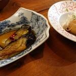 鶏Biyori - ナスの揚げびたしと味玉