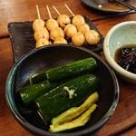 鶏Biyori - うずらとたたきキュウリ