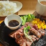 Shiroganekohiten - 2020年10月 牛ハラミステーキ 1200円(税別)