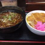 さらしな - カツ丼セット850円