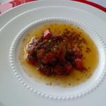 ティラ - 前菜1~ホタテのガーリックバターソース♪