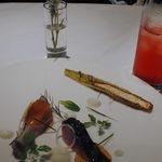 14061957 - 淡路産胡麻鯖(燻製)・夏野菜のコンソメと新玉葱のヴィネグレット①