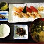 島寿司4貫 炙り島寿司4貫定食
