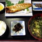 鯖の塩干し定食