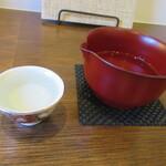 蕎麦 高しま - 「木戸泉」を半合で