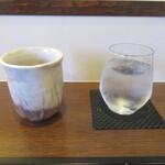 蕎麦 高しま - 蕎麦茶とお冷