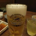 塩梅 - 生ビール570円×消費税