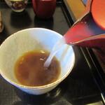 蕎麦 高しま - 自然体に近い蕎麦湯