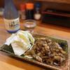 yakitorisanchou - 料理写真:当店名物の皮。鉄板でカリッと焼き、特製のタレで。