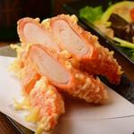 うどん×ちょい呑み 川崎うどん - 肉厚カニカマ! オーシャンキング天ぷら