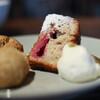 YUSHI CAFE - 料理写真:ラズベリーとホワイトチョコのパウンドケーキ☆