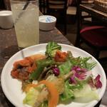 ナポリの食堂 アルバータ アルバータ - サラダバイキング&レモンスカッシュ♪