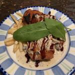 ナポリの食堂 アルバータ アルバータ - 鶏肉のロースト 粒マスタードクリームソース♪