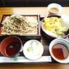 弥彦山ロープウェイ展望食堂 - 料理写真:天ざる弥彦